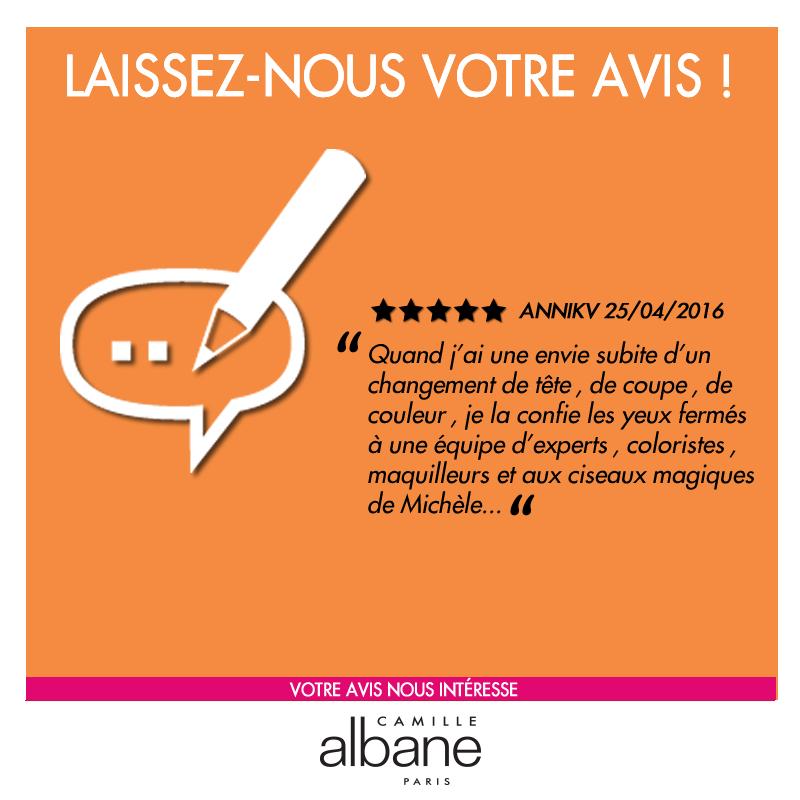 Laissez votre avis sur nos coiffeurs, maquilleurs, coloristes - Camille Albane Auxerre