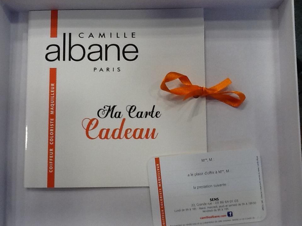Carte cadeau coiffeur Camille Albane Vienne